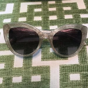 Kate Spade Gold Glitter Sunglasses